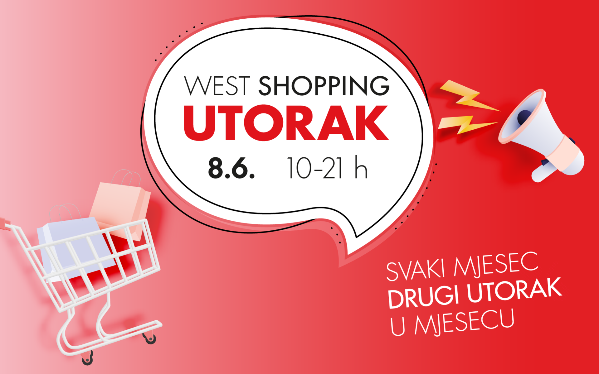 West Shopping Utorak - 8.6.2021.