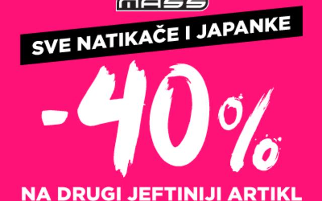 Do 40% u MASSu