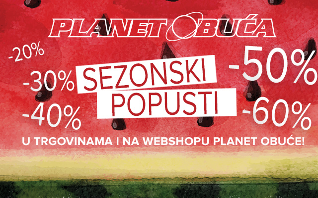 Do 60% u Planet obući